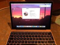 "Apple Macbook 12"" Laptop - Rose Gold - 256GB SSD - 8GB RAM - Mint Condition - Original Box"