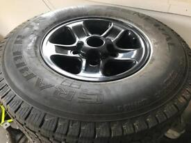 Defender Bullet Alloys and Tyres X5