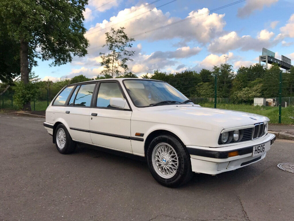 1990 h bmw 318i touring white 204k 8 owner classic e30 white clean 325i m3 m5 rs4 s3. Black Bedroom Furniture Sets. Home Design Ideas