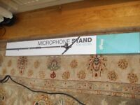 Boom mic stand. Black. Adjustable. Music Folding Stand. Blue.