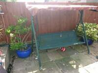 3 Seater Garden Metal Swing