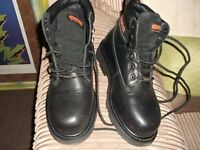 new trojan work boots size 8