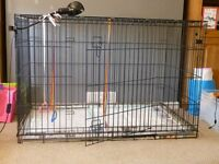 Very Large Dog Cage, good condition comes with recentley bought play pen for new puppies.