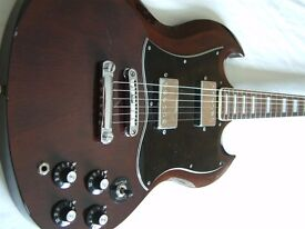 Antoria double-cut electric guitar - Japan - '70s - Gibson SG homage.