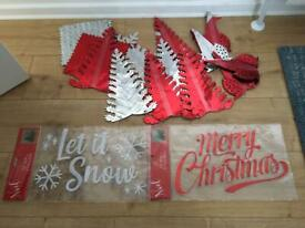 Christmas ceiling & wall decorations
