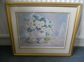 Large Framed Print - The Princess of Wales Rose by Trisha Hardwick