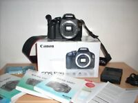 Canon EOS 550D DSLR Camera (Body Only) With extra baterry
