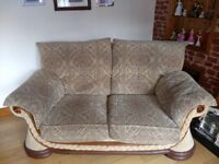 2 x 2 seater sofas, excellent solid frame and cushions just needs a freshen up