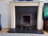 Fireplace surround and hearth - Black granite