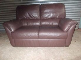 Genuine Natuzzi Italian Full Hide Leather 2-seater Sofa
