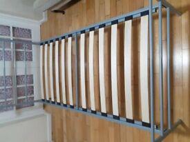 SINGLE BED (Grey Metal Frame)