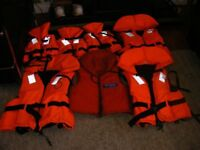 life jackets 7 in total