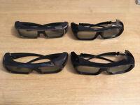 Brand New Sony 3D Glasses 2x TDG-BR100 + 2x TDG-BR250