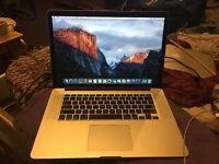 """Apple MacBook Pro Retina 15.4"""" 2.5GHz Quad Core i7 256GB SSD 16GB RAM 2015"""