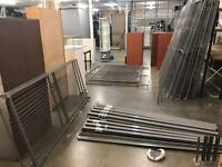 New Metal cage with 2 door designs- covers approximate 1000 sq foot.