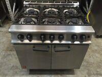 Falcon natural Gas 6 burner cooker