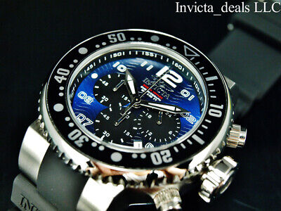 Invicta Men's 52mm Grand Pro Diver OCEAN VOYAGE Chrono Blue Dial Silver SS Watch