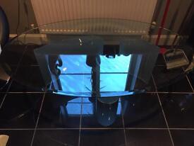 Multiyork Oval Glass Coffee Table.