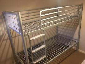 Metal frame buck bed with x1 mattress