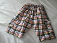 Boys 3/4 length shorts NEW without tags age 8 to 12