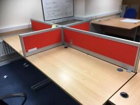 Office desk 1400mm x 800mm( 10 available )