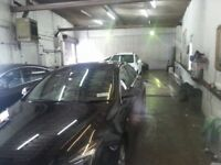 Indoor car wash to let