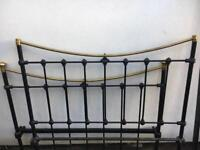 Vintage cast iron/brass bed