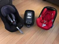 Maxi Cosi Car seat set baby to 3+ years isofix