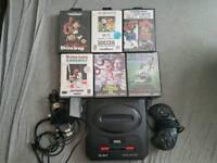 Sega Mega Drive 2 with 6 games