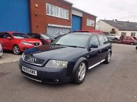 AUDI A6 ALLROAD 2.5TDI QUATTRO,SPARES OR REPAIR,STARTS AND DRIVES,07594541817
