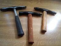 scutching hammers x 3