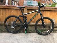 Carrera banshee x full suspension mountain bike will post