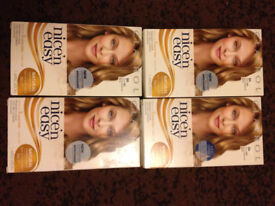 CLARIOL Nice and Easy 4 Boxs of 8A Medium Ash Blonde Hair Dye Brand new Unused will post