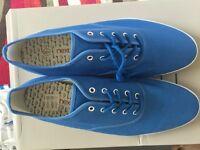 mens / boys blue trainers / plimsolls