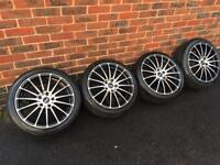 "Ford 17"" inovit Alloy Wheel with tyres - connect focus Fiesta st alloys"