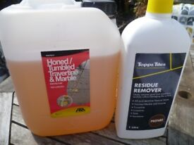 Tile protector and grout residue remover