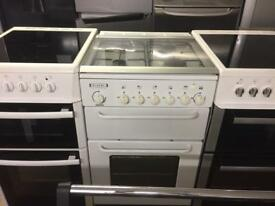White 55cm Gas cooker