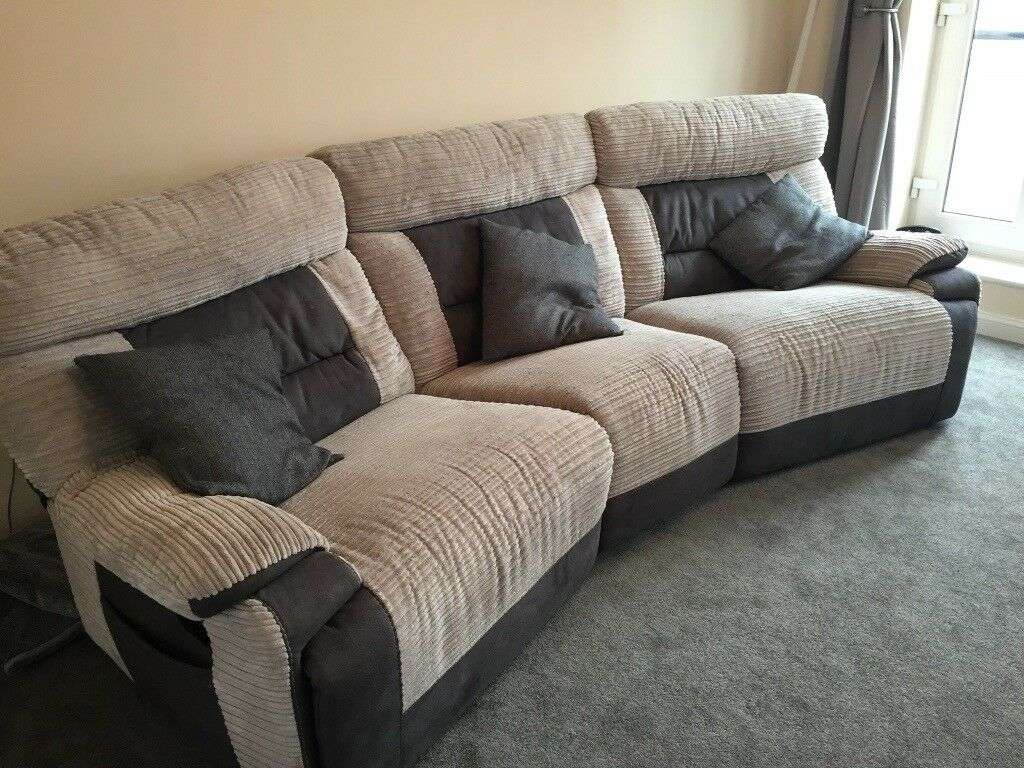 Scs Curve 4 Seater Recliner Sofa With Stain Guard Ex Con