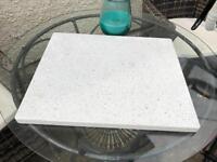 Solid quartz Chopping board / worktop protector / pan holder