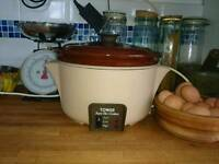 Large electric slow cooker