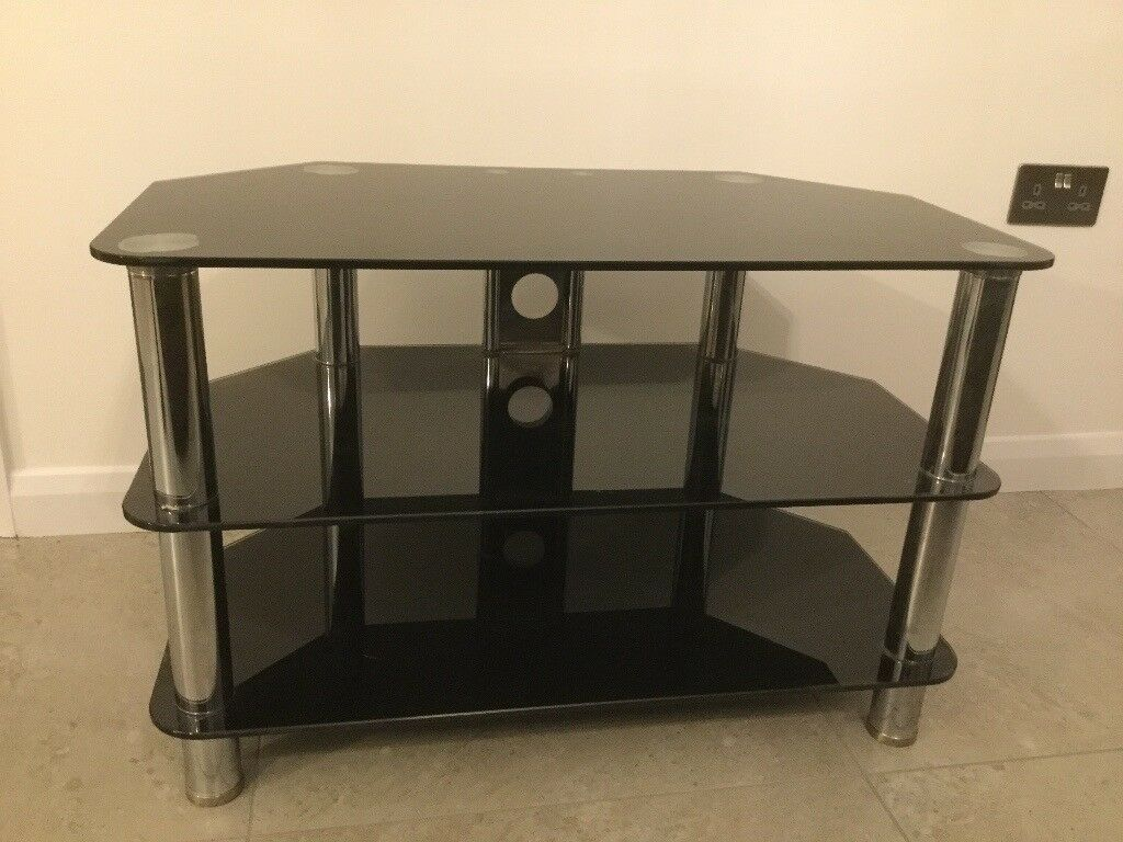 Smoked glass television table