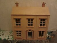 CHILDS DOLLS HOUSE COMPLETE WITH INTERIA FUNITURE, ALL IN VERY GOOD CONDITION..