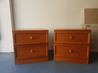 Bedside table pair bedside drawers good quality vintage retro shabby chic