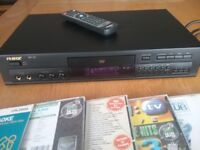 RSQ Karaoke disc player, with discs.