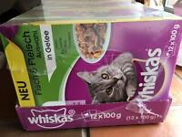 48 Pouches of Whiskas Cat Food in Jelly
