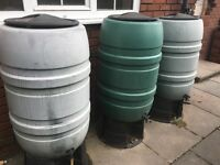 3 Large Inter-connecting Water Butts