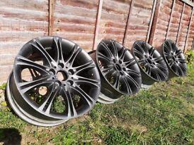 R18 5x120 BMW MV2 Genuine Staggered alloy wheels 8/8.5jj Style 135 (e36 e46 320 323 325 328 330)