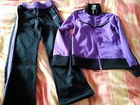 GENUINE NIKE GIRLS TRAINING GEAR TRACKSUIT PURPLE/BLACK BARGAIN PRICE £10 ono