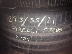 Pirelli p zero 295/35/21 6mm tread