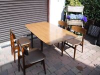 Small Drop Leaf Dininig Table & 4 Chairs